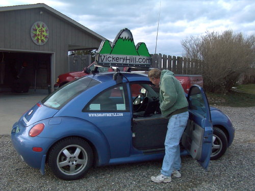 Ed Butcher inspects the SmartBeetle